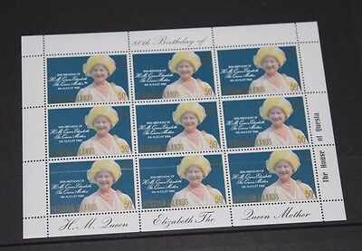Pitcairn Islands 1980 Queen Mothers Birthday Minature Sheet Fine M/n/h