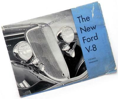 1933 The New FORD V-8 advertising folder brochure