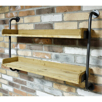 Rustic Wooden Blackboard Wall Hanging Chalk Message Board Storage Hooks Shelf