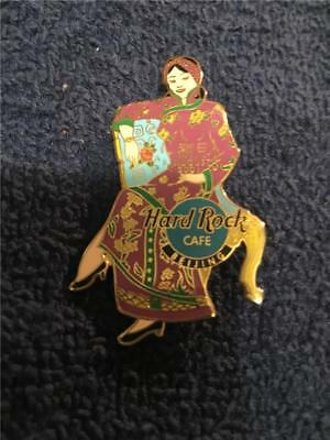 Hrc Hard Rock Cafe Pin -Beijing China Lady In Kimono Only 300 Made
