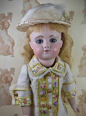 Antique-Style Coat Dress & Hat for 18inch (46cm) French or German Antique Doll