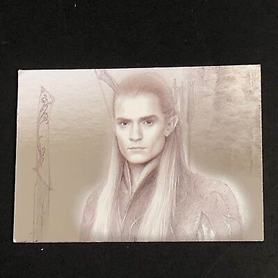 Legolas LORD OF THE RINGS Masterpieces Topps Foil Art Card 2 of 9