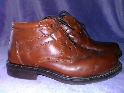 Bill Blass Comfort System Brown Leather Ankle Boots Made in Italy Size 8.5 D