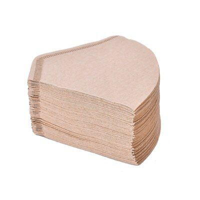 100 x Unbleached Drip Filter Papers for making coffee Made from virgin wood pulp
