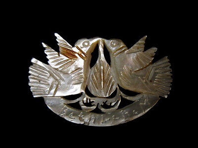 OUTSTANDING VINTAGE MOTHER of PEARL BROOCH from HOLY LAND!!!