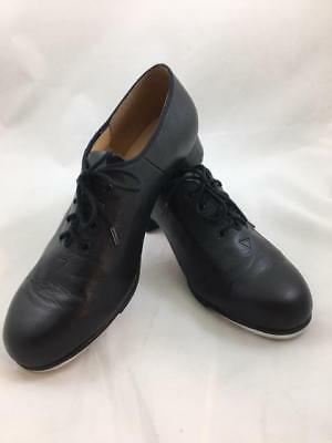 Women's Bloch Tap Shoes, Genuine Leather Black Techno Tap Size 12 Very Good Cond