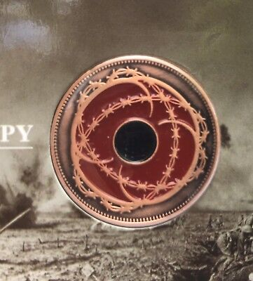 Barbed Wire Poppy Penny *ANZAC Day *32mm