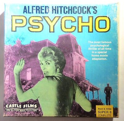 Alfred Hitchcock's Psycho Castle Horror Film #1112 B&W Silent Super 8 Complete