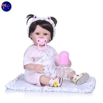 AU! Newborn Silicone Reborn Gift Baby Doll Simulated Handmade Training Baby Care