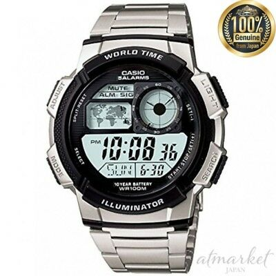 CASIO AE-1000WD-1A Wrist Watch Sports World Time Metal Belt Men's from JAPAN NEW