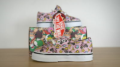 af88dd72ff3 Vans Authentic Nintendo Princess Peach Toddler Classic Size 5.5 Toddler
