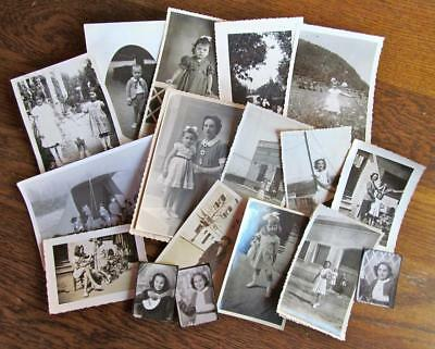 Lot of 18 Vintage 1939 – 1951 Photos of Children some European #8