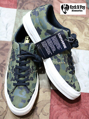 edc2764d0d9f Converse Mens One Star Camo Green White Shoes Sneakers Trainers 159703C  Size 8