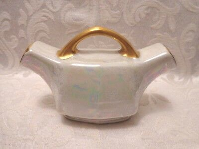 Vintage/Antique Opalescent M Z Austria Salt and Pepper Shaker with Handle