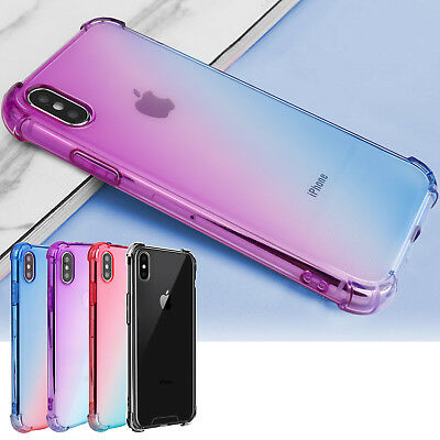 Hybrid Shockproof Thin Clear TPU Bumper Case Cover Fits For iPhone XR XS Max