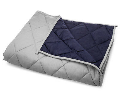 """Premium Weighted Blanket with Glass Beads, 60""""x80"""", 15 Pounds, Queen Size"""
