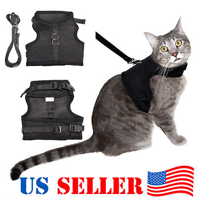 Cat Harness Vest with Leash with Double Strap - Escape Proof !