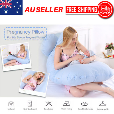 Maternity Pillow Pregnancy Nursing Sleeping Full Body Support U Shape Feeding AU
