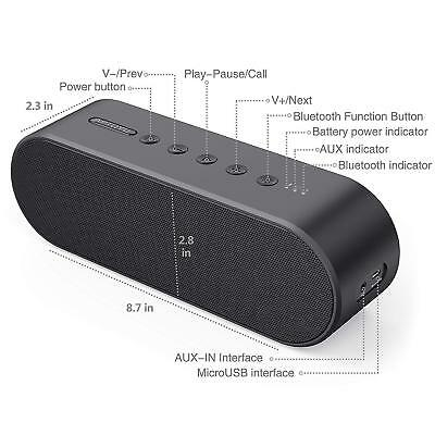 Wireless Bluetooth Speaker 4.2 Portable Speakers Built-in Mic Loud Volume 20W