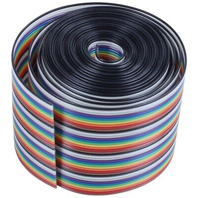10ft 40 Way 40-Pin Rainbow Color IDC Flat Ribbon Cable 1.27mm Pitch W4A4