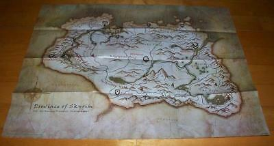 The Elder Scrolls V 5 Skyrim Official Poster Map for PS3 Xbox 360 PC Steam Game