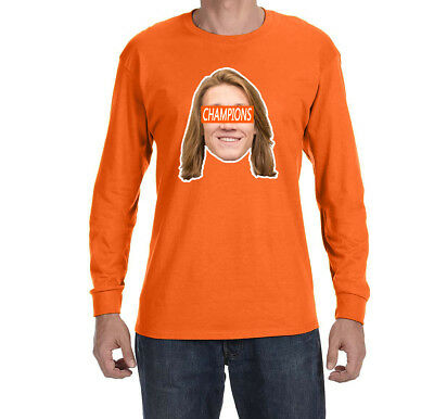 Clemson Tigers Trevor Lawrence National Champions Face Long sleeve shirt