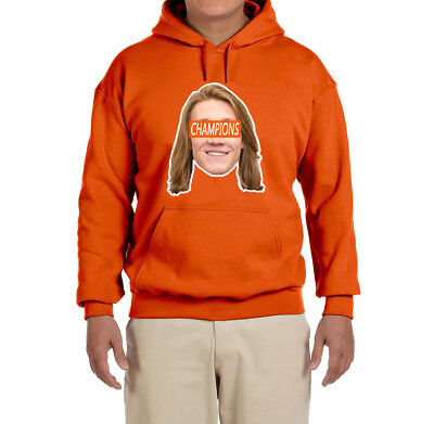 Clemson Tigers Trevor Lawrence National Champions Face Hooded Sweatshirt
