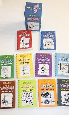 Diary Of A Wimpy Kid Book Pack Set Jeff Kinney Paperback Box Set Books 1 - 10