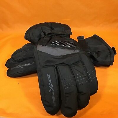 Zero Xposur Men's Winter Gloves Large L to XL Black Thinsulate Used