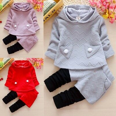 Casual Clothes For Baby Girls Spring Autumn Clothing Sets Toddler Sports Suits