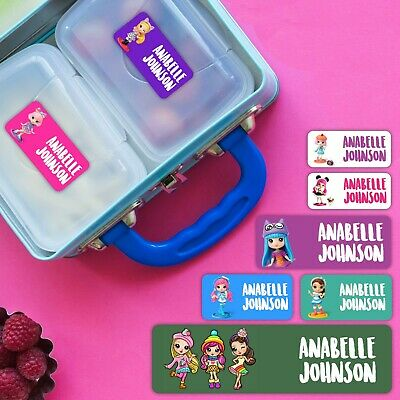 Party Pop Teenies Personalised Name Label for Kids, dishwashable, microwaveable