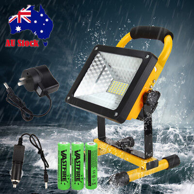 50W 36 LED Rechargeable Flood Light Spot Work Camping Hiking Outdoor Lawn Lamp
