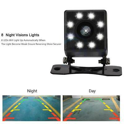 8 LED Night Vision Car Rear View Camera Wide Angle HD Backup Parking Reverse BD