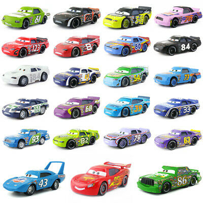 Disney Pixar Cars Racers No.4-No.123 1:55 Loose Model Toy Car Gift For Kids Boys