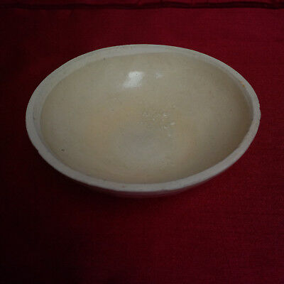 Old and Antique Chinese 14th Century Yuan Flower Relief Shalow Bowl