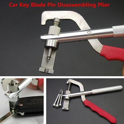 Universal Metal+Rubber Car Remote Key Blade Pin Disassembling Plier Lock Tools