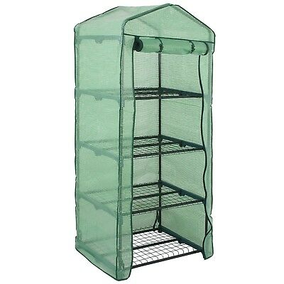 4 Tier Mini Portable Garden Greenhouse Plants Shed Hot House For Indoor Outdoor