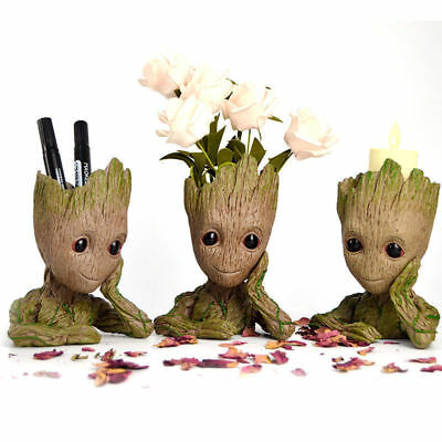 Guardians of The Galaxy Baby Groot Figure Flowerpot Style Pen Pot Toy Gifts 15CM