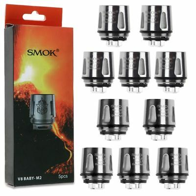 5x SMOK² TFV8 Baby M2/Q2/X4/T6/T8 Core Replacement Coil for TFV8 Baby Beast Tank
