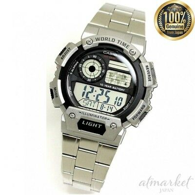 CASIO AE-1400WHD-1A Watch Digital Men's Silver Band in Box genuine from JAPAN