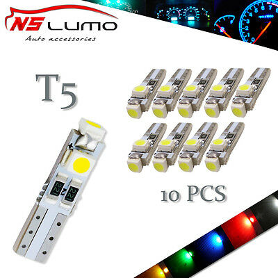 10xLed T5 3528 SMD light 73 74 Wedge Instrument Panel Speedometer Tacho Gauge 37
