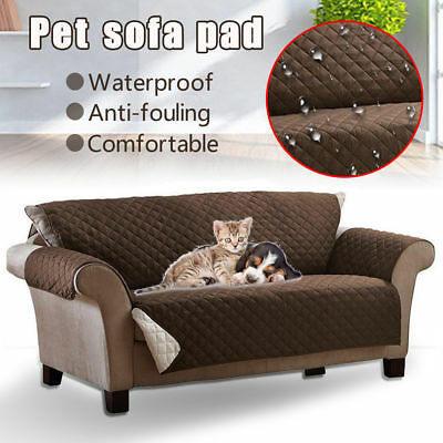 New 1/2/3Seats Pet Dog Cat Couch Sofa Cushion Pad Protector Cover Waterproof Mat