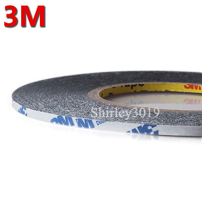 Combined 1.5mm/2mm/3mm/5mm*50M 3M 9448 black Double Sided Adhesive Tape LCD LED