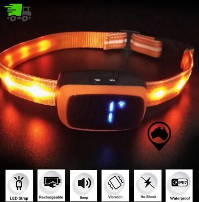 2019 Automatic Anti Barking Dog Collar with LED Strap, Waterproof & Rechargeable