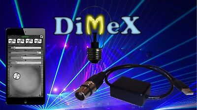 Wireless DMX stage lighting controller Android phone Dimex new better version