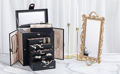 Extra Large Jewellery Box Rings Storage Cabinet Necklace Organisers Display Case