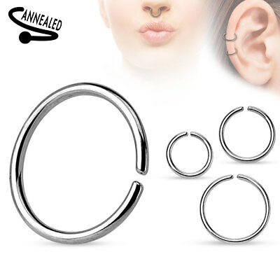3pc Hoop Nose Septum LIP Ring Helix Daith Tragus Orbital Conch Cartilage EARRING