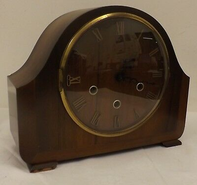 Vintage Smiths Westminster Chimes 8 Day Mantle Clock - Working Order