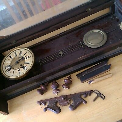 venea regulator antique clock for restoration working movement