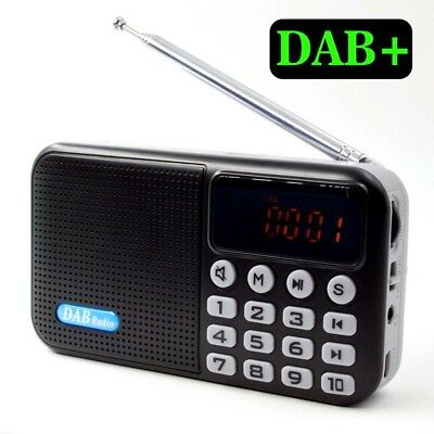 Rechargeable LCD Display Digital Portable DAB/DAB+/FM MP3 Radio Bluetooth 4.0